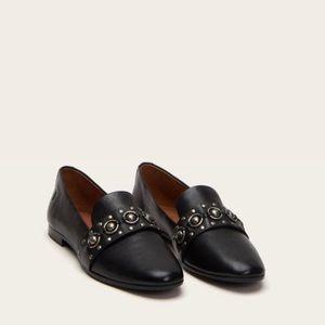 Frye Terri Multi Stud leather black Loafers 8